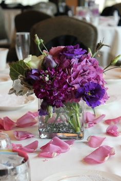 Emily's Purple and Pewter Wedding at Scotland Run Golf Club