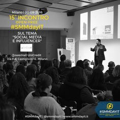 #SMMdayIT #Events | Partecipa anche tu agli incontri 'open-free' di @smmdayit con @albaneseandrea! Il 20 settembre presso #TowerHall @UniCredit_pr a #Milano dalle 10 alle 17.30. Parleremo di 'Social Media e #Influencer'! A seguire #aperitivo in Corso Como    L'iscrizione è gratuita ecco il link http://ift.tt/2bUyc02 #smm #community #socialmedia #socialmediacommunity #communityday #socialmediamarketing #socialevents #socialmediaevents #socialteam