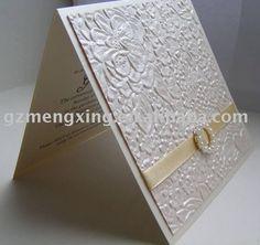 Elegant wedding invitations with a buckle------EA827