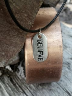 Believe Leather Necklace - Inspirational Mens Women @ Absolutejewelry.com #believe #inspirational #faith