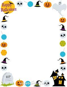 free halloween border templates