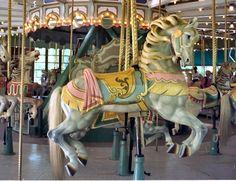 1914-16 Mangels/Carmel Carousel at Prospect Park, Brooklyn, NY Prospect Park Carousel Carmel Outside Row Jumper