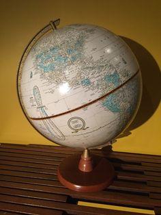 Vintage World Globe / Mid Century Globe / Vintage 12 Inches Globe by VintageVixens1 on Etsy