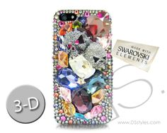 samsung galaxy s5 cute fancy phone cases | ... Elements Twin Skulls 3D Bling Swarovski Crystal Samsung Galaxy S5 Case