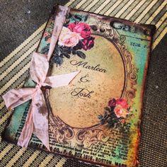 Vintage Pocketfold Wedding Invitations by ShabbyScrap on Etsy, $10.00