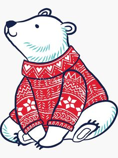 'Polar bears' Sticker by PenguinHouse Christmas Projects, Christmas Art, Christmas Themes, Preschool Christmas Games, Polar Bear Drawing, Polar Bear Christmas, Teacher Cards, New Years Decorations, Christmas Stickers