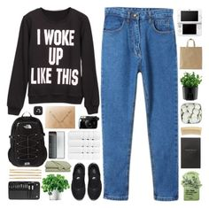 #841 I woke up. by giulls1 on Polyvore featuring NIKE, The North Face, Cara, BHCosmetics, Tony Moly, Christy, Eva Solo, Smythson, Caran D'Ache and Bodum