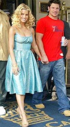 Jessica Simpson and Nick Lachey.