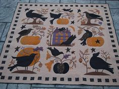 Halloween Applique, Halloween Quilts, Fall Halloween, Halloween Crafts, Wool Applique, Applique Patterns, Applique Quilts, Quilt Patterns, Quilting Ideas