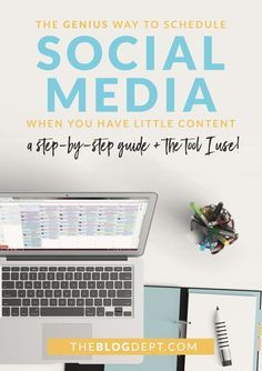 How to schedule social media when you don't have a lot of content