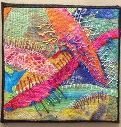 Embroidered art quilt by Fran Saperstein | TAFA