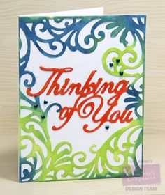 Designed by Lori Barnett. Thinking of You Create-a-card Die from @CraftersCompUS  #crafterscompanion