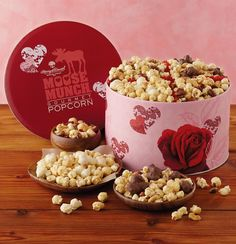 Celebrate Valentine's Day with your special someone, maybe treat them to Moose Munch and a movie at home! Moose Munch, Harry And David, Valentine's Day Gift Baskets, Best Valentine's Day Gifts, Gourmet Popcorn, Caramel Corn, Food Gifts, Valentine Day Gifts, Baked Goods