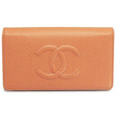 シャネルコピー 長財布 二つ折り ココマーク レザー オレンジ