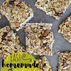 Easy Homemade Granola Bars {recipe}