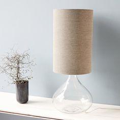 Stunning Lampe a poser med gris marron transparent hcm ocm house doctor normal