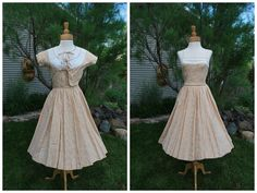 1950's Pat Primo 2 pc Cotton Day Dress by govintagego on Etsy