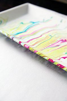 IHeart Organizing: 10 Minute Decorating Idea: DIY Marble Tray
