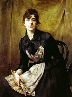 Self-portrait Anna Bilinska-1857-1893. Polish. Known for her portraits, painted with great intuition. She also painted still life, genre scenes and landscapes, and was a representative of realism.
