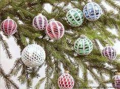 I miei lavori all'uncinetto: Schemi uncinetto palline per l'albero di Natale