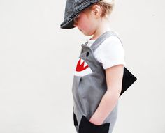 Shark dungaree childrens overalls by wildthingsdresses on Etsy, £42.00