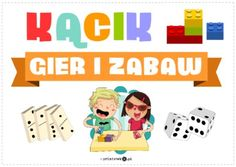 Kącik gier i zabaw - Printoteka.pl Kids Education, Family Guy, School, Fictional Characters, Logo, Paper, Logos, Fantasy Characters, Griffins