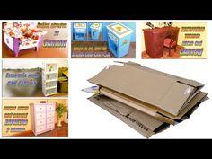 Muebles de cartón: que tipo de cartón se necesita y como conseguirlo a partir de cajas - YouTube