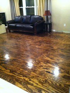 Bohall Blessings: Plywood Floor DIY - great effect! Stained Plywood Floors, Staining Plywood, Plywood Flooring Diy, Plywood Walls, Painted Floors, Plywood Furniture, Hardwood Floors, Furniture Design, Flooring Ideas