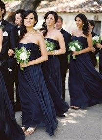 love these dresses with their bouquets... White and lots of greenery.