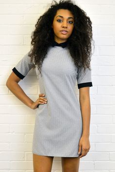 **OUTFIT OF THE DAY** This cute dress is the perfect outfit for your casual days! The flattering shape, check print and pretty collar make this dress a great choice! Get yours now by visiting our website - www.girlinmind.com/sale/jenny-pink