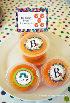 """diy the hungry caterpillar party favors 