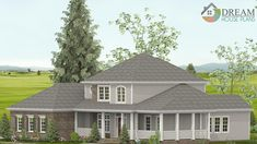 Dream House Plans: Find the best new house plans of all styles - Southern Home Plan, Colonial Open House Floor Plans with porches. House Plans One Story, New House Plans, Dream House Plans, House Floor Plans, Southern House Plans, Southern Homes, Craftsman Cottage, Craftsman Homes, 4 Bedroom House Plans