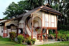 Malay houses Editorial Photography