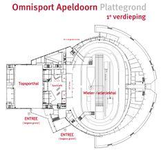 De plattegrond van Omnisport Apeldoorn