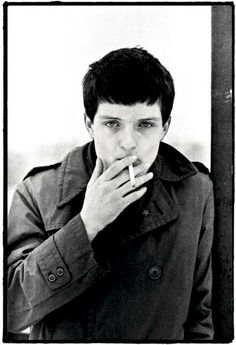 Ian Curtis of Joy Division, United Kingdom, 1979, photograph by Kevin Cummins.