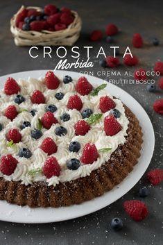 #crostata #morbida al #cioccolato con #crema al #cocco