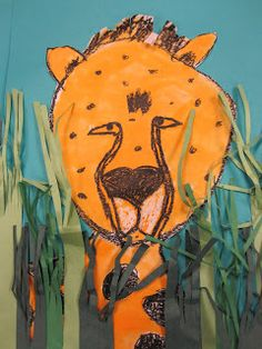 In grade we talked about a cheetah and what makes them so different from a leopard and jaguar. I told my story about when I went to the zoo last summer . Art Activities For Kids, Art For Kids, Art Children, Cheetah Crafts, Love Art, All Art, Projects For Kids, Art Projects, Kids Crafts
