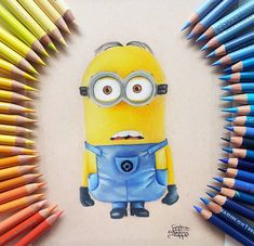 Disney Animated Movies, Polychromos, Faber Castell, Disney Animation, Prismacolor, Colored Pencils, Minions, Fan Art, Instagram