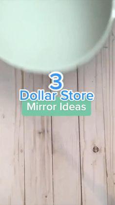 Diy Crafts For Home Decor, Diy Crafts Hacks, Diy Arts And Crafts, Home Craft Ideas, Diys, Diy Projects, Dollar Tree Decor, Dollar Tree Crafts, Dollar Store Mirror