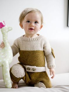 Knitted snow suit - for baby