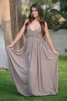 Ancient Rome Dress - Mocha