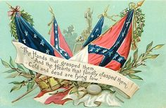 "TUCK-""MEMORIAL DAY POST CARDS""-EMBOSSED-FLAGS-HANDS-HEARTS-H79131"