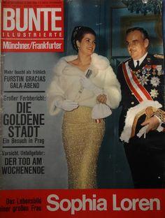 BUNTE - Titelblatt vom 2. September 1964 - Fürstin Gracia Patricia und Fürst Rainier von Monaco