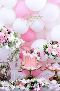 Pink + White & Gold Garden Party