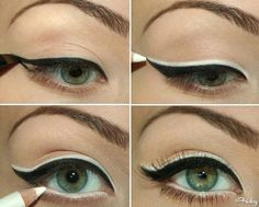 How to Apply Black and White Eyeliner. The Best White Eyeliner Artist's Eye Pencil – Writer – Estee Lauder – Brow & Liner NYX Slim Best Makeup Tutorials, Best Makeup Products, Makeup Tips, Makeup Ideas, Beauty Products, Eyeshadow Tutorials, Makeup Tutorials Youtube, Makeup Hacks, Makeup Trends