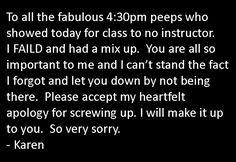 From Karen: