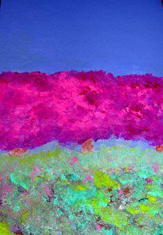 """Violet Sky"" - painting by Jill Greenhill (via Jill Marie Greenhill / Pinterest)"