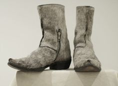 Double-Zip Boots With Horsehair From Carol Christian Poell...