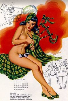 Celtic pin-up