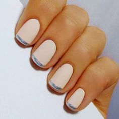 White And Silver Manicure nails nail art manicure french manicures nail ideas nail designs nail pictures French Manicure Designs, Nail Art Designs, French Nails, Cute Nails, Pretty Nails, Hair And Nails, My Nails, Pink Nails, Blush Nails